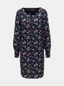 Tmavě modré květované šaty Tom Tailor - S