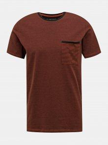 Hnědé tričko Selected Homme New Poe