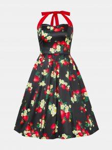 Tmavě zelené květované šaty Dolly & Dotty - M
