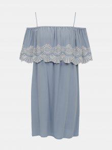 Světle modré šaty s madeirou VILA Latii - M