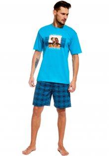 Pánské pyžamo Cornette 326/52 L Tyrkysová