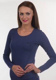 Dámské tričko Emporio Armani 163378 6A263 M Tm. modrá