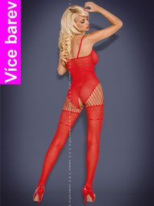 Body Obsessive Bodystocking F207 S S/M Bílá