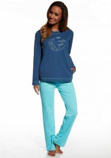 Dámské pyžamo Cornette 679/96 Moonlit XL Blu