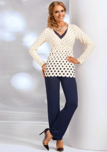 Dámské pyžamo Donna Sonia XL Smetanová