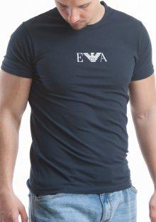 Pánské tričko Emporio Armani 111267 CC715 M Tm. modrá