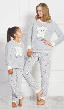 Dětské pyžamo dlouhé Vienetta Secret Štěňátko | šedá | 13 - 14