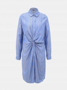 Modré pruhované košilové šaty Jacqueline de Yong Alex  - XS