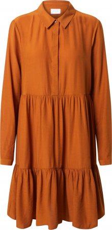 VILA Košilové šaty oranžově červená