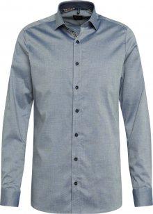 OLYMP Košile \'Level 5\' námořnická modř / béžová