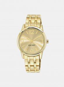 Dámské hodinky s nerezovým páskem ve zlaté barvě Nine West