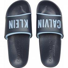 Calvin Klein modré pánské pantofle Slide