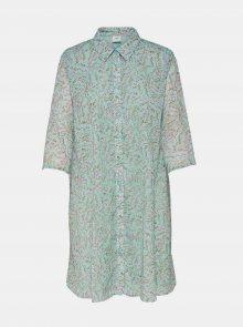 Zelené vzorované košilové šaty Jacqueline de Yong Nelly - S