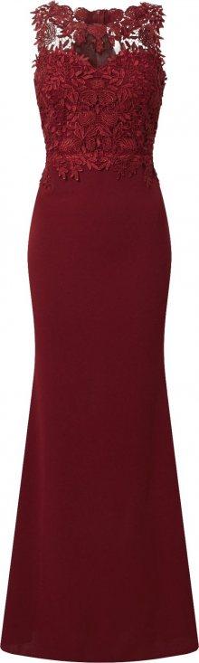 WAL G. Společenské šaty vínově červená