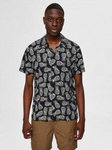 Černá vzorovaná košile Selected Homme Mildas