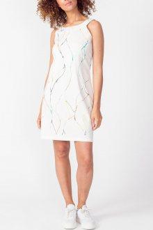 SkunkFunk bílé vzorované šaty Ahien