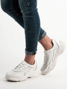 Výborné dámské bílé  tenisky bez podpatku 39