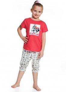Dětské pyžamo Cornette 081/54 122/128 Růžová