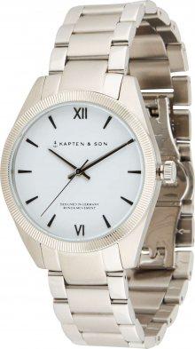 Kapten & Son Analogové hodinky stříbrná / světle šedá / černá