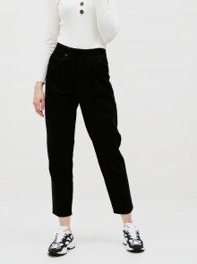 Černé zkrácené kalhoty Jacqueline de Yong Pacey - XS