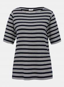 Tmavě modré pruhované tričko Jacqueline de Yong Camina - XS