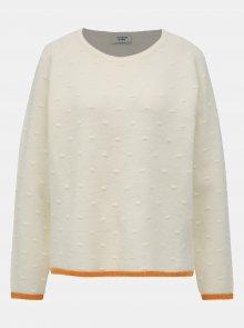 Bílý vzorovaný svetr Jacqueline de Yong Chara - M