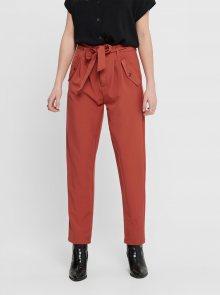Cihlové kalhoty s kapsami Jacqueline de Yong Selma - XS