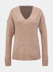 Růžový svetr Jacqueline de Yong Tea - S