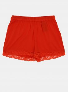 Červené kraťasy s krajkou Jacqueline de Yong Summer - XS