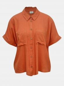 Cihlová volná košile Jacqueline de Yong Cathy - S