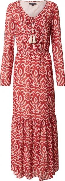 COMMA Šaty červená / bílá