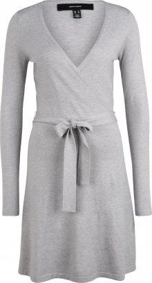 Vero Moda Tall Úpletové šaty \'Sara\' světle šedá