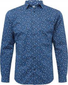 JACK & JONES Košile \'BLABLACKPOOL\' námořnická modř / kouřově modrá / bílá / nebeská modř