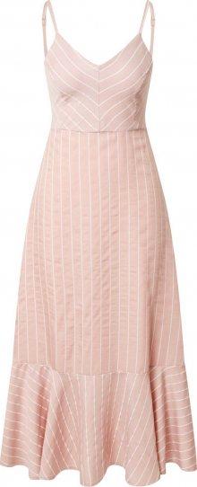 Trendyol Letní šaty starorůžová / bílá