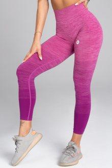 Gym Glamour Legíny Bezešvé Pink Ombré S