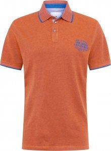 TOM TAILOR Tričko oranžová / královská modrá