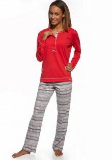 Dámské pyžamo Cornette 633/123 Anette XXL Červená