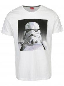 Šedo-bílé pánské slim fit tričko s motivem Star Wars s.Oliver