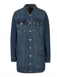 Modrá dlouhá džínová bunda VERO MODA Oline