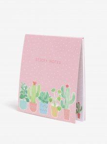 Sada poznámkových lepících bločků s motivem rostlin Sass & Belle