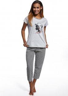 Dámské pyžamo Cornette 672/67 S Sv. šedá