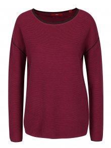 Fialový dámský žebrovaný svetr s.Oliver