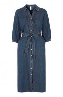 Džínové šaty Killa / tm. modrá
