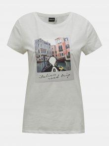 Bílé tričko s potiskem ONLY Peanuts - S