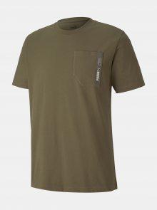 Khaki pánské tričko Puma - S