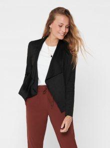 Černá bunda v semišové úpravě ONLY Fleur - XS