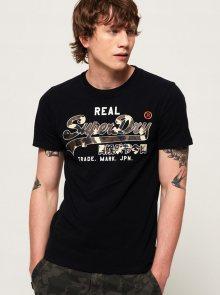 Černé pánské tričko s potiskem Superdry - S