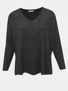 Tmavě šedý svetr s rozparky ONLY CARMAKOMA Carindia - 50-52
