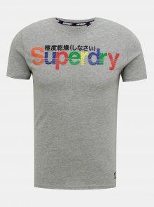 Šedé pánské tričko Superdry - S