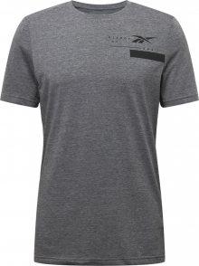 REEBOK Funkční tričko šedý melír / černá